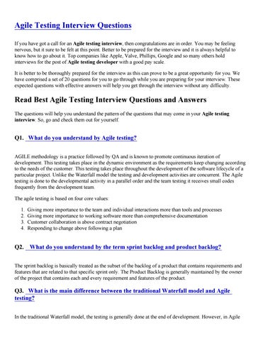 Testing Interview Questions Answers Pdf