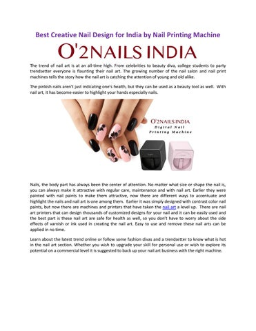 Best Creative Nail Design For India By Nail Printing Machine By