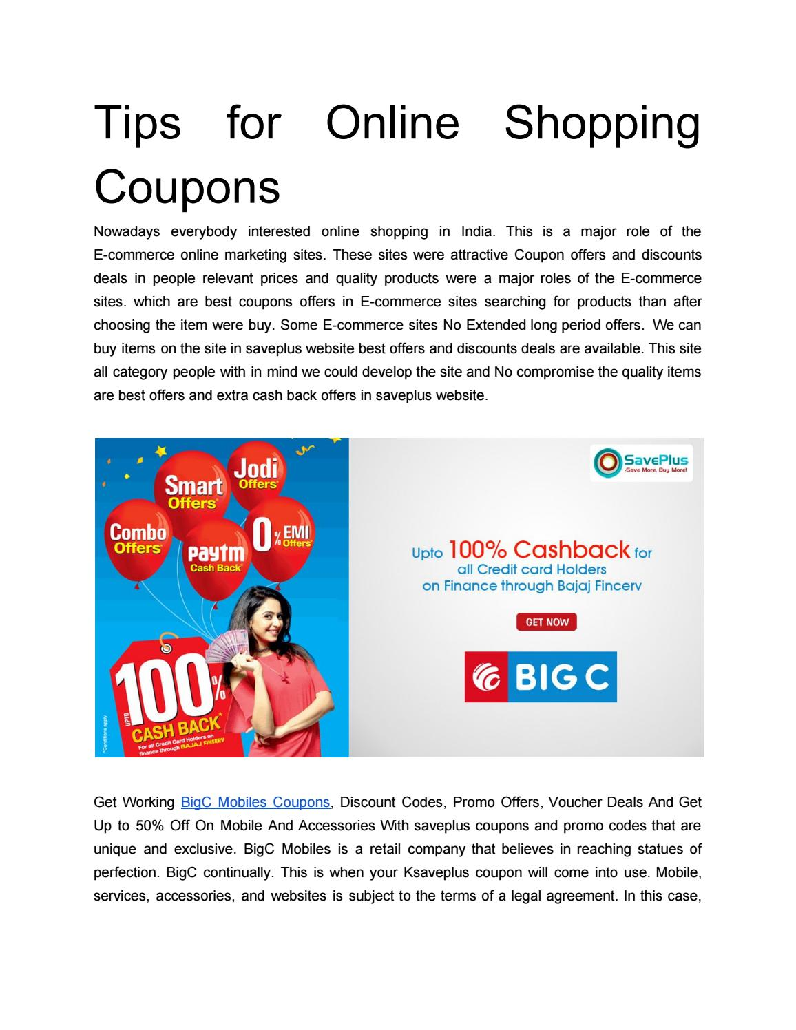 Tips For Online Shopping Coupons By Saveplus21 Issuu
