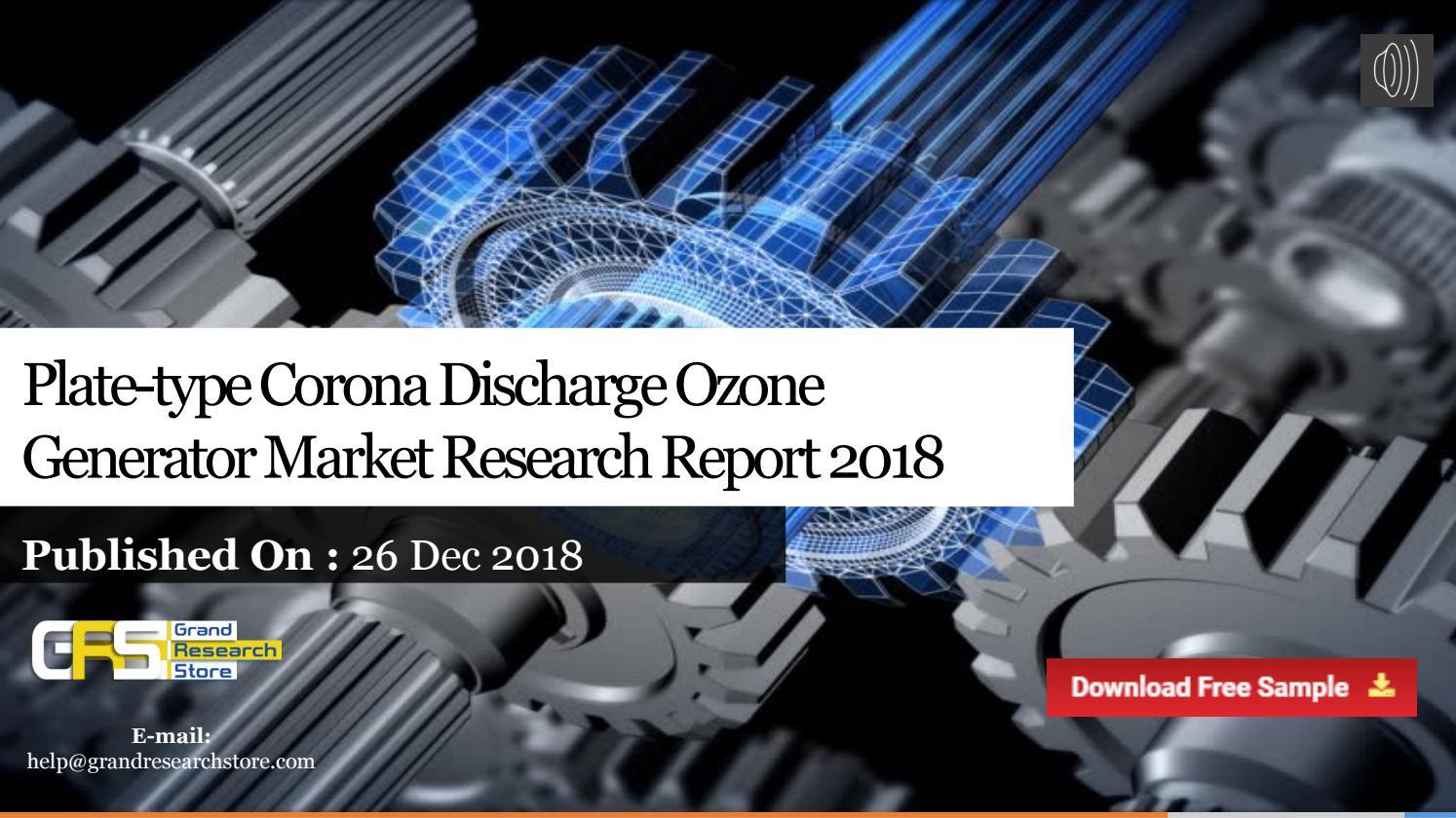 Plate type corona discharge ozone generator market research
