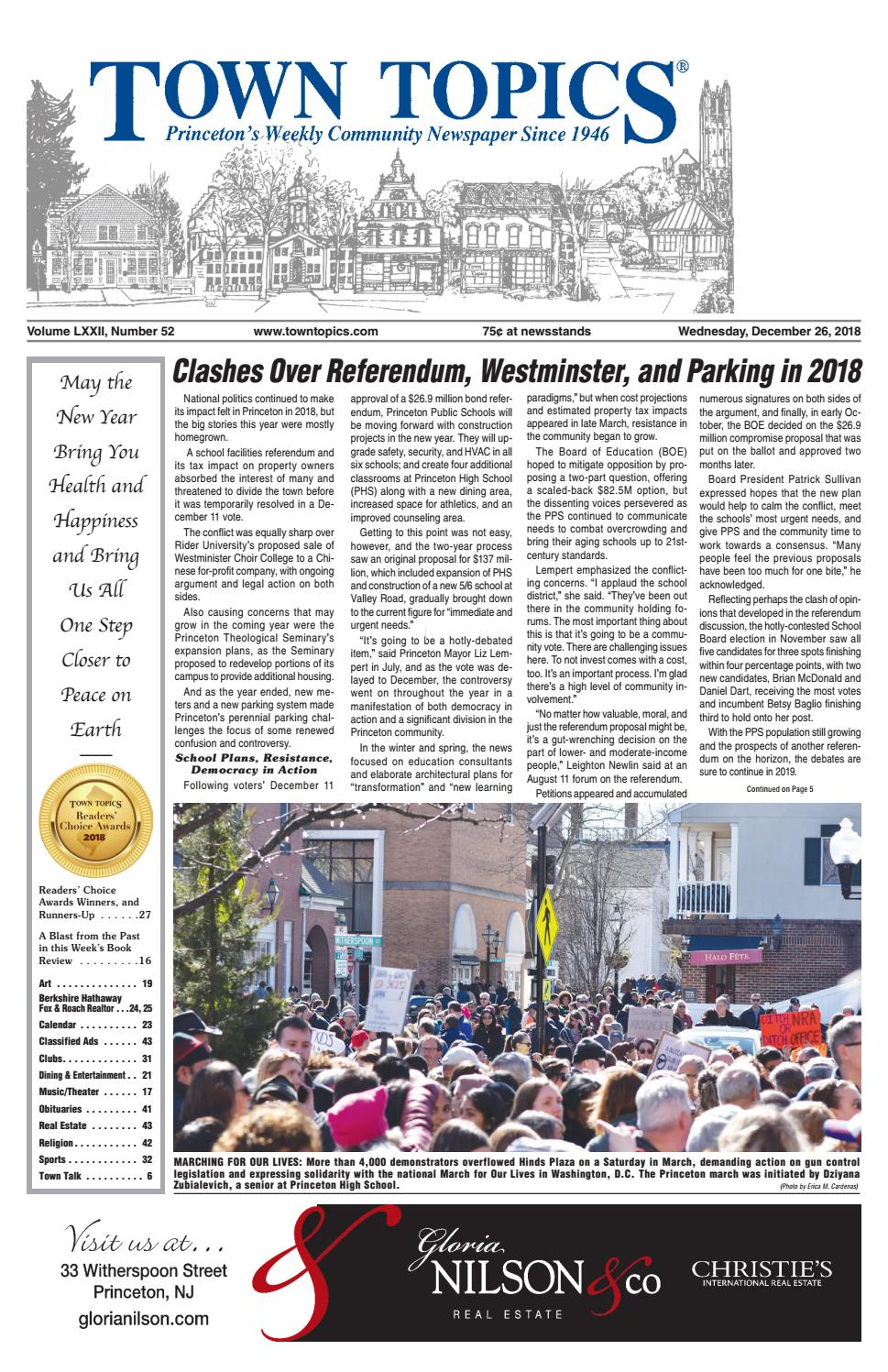 26609e58e015 Town Topics Newspaper, December 26 by Witherspoon Media Group - issuu