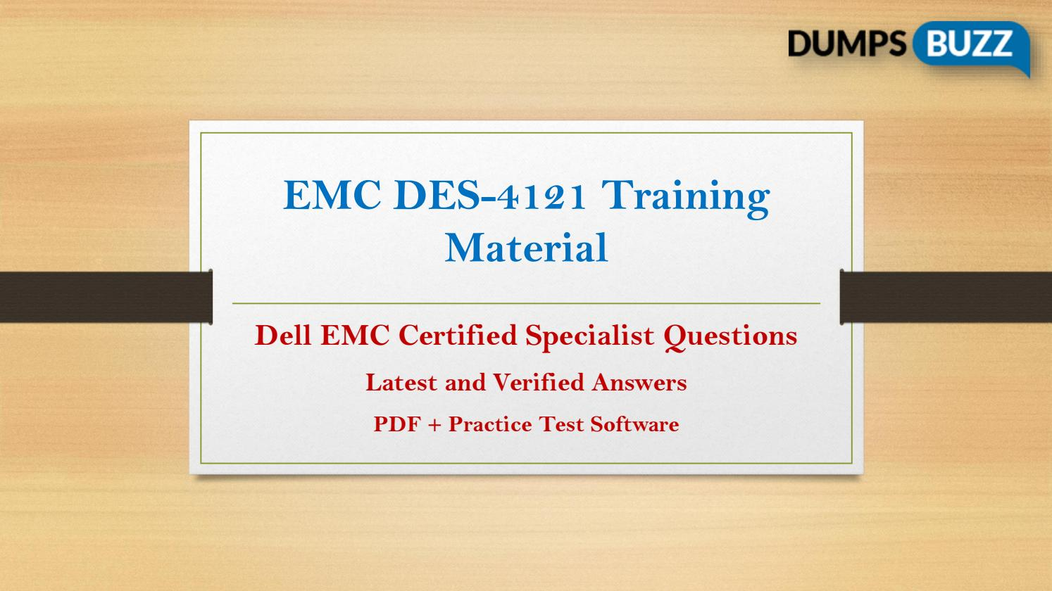Updated DES-4121 VCE Training Material - All in One Solution by