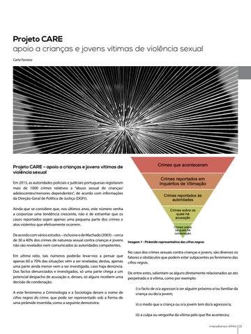 Page 13 of Projeto CARE - apoio a crianças e jovens vítimas de violência sexual