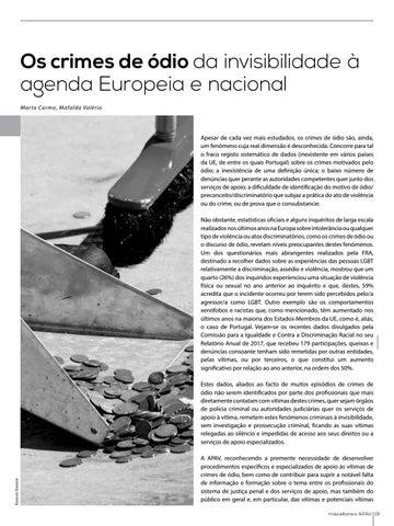 Page 19 of Os crimes de ódio - da invisibilidade à agenda europeia e nacional