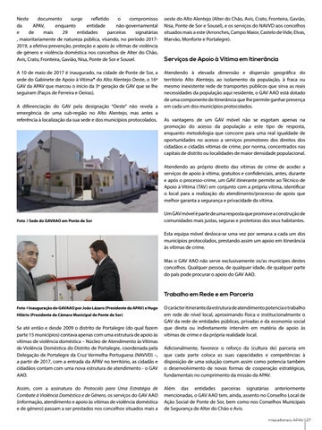 Page 27 of Gabinete de Apoio à Vítima do Alto Alentejo Oeste - o GAV itinerante da APAV