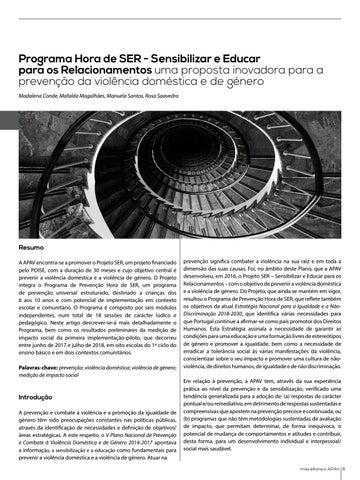 Page 6 of Programa Hora de SER - Sensibilizar e Educar para os Relacionamentos