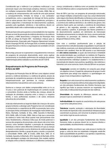 Page 7 of Programa Hora de SER - Sensibilizar e Educar para os Relacionamentos