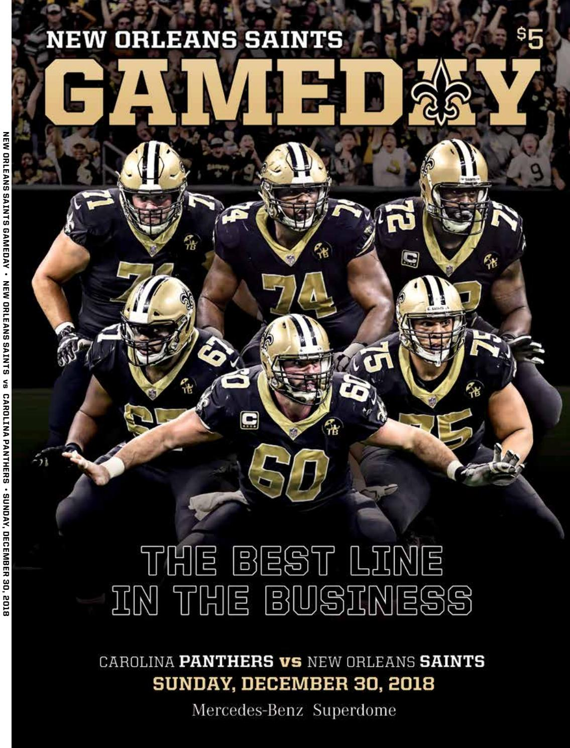 big sale 23e4f a6be4 New Orleans Gameday   New Orleans Saints Vs Carolina Panthers   Sunday,  December 30, 2018 by Renaissance Publishing - issuu