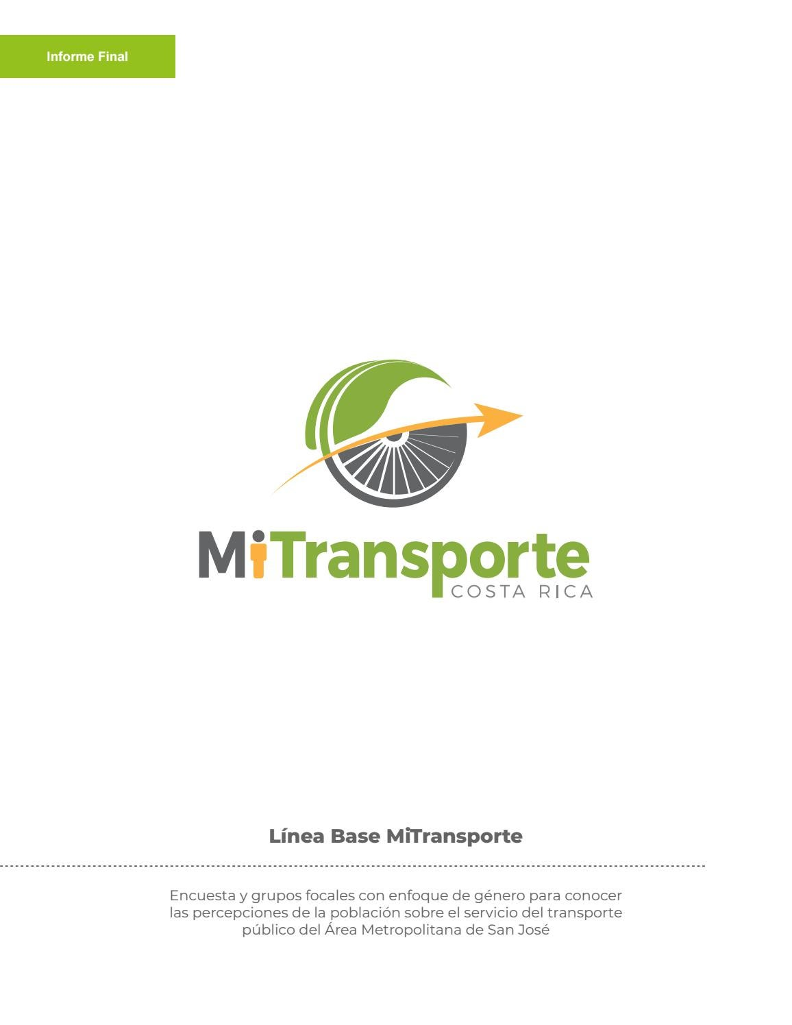 Estudio Para Conocer La Percepción Sobre El Transporte