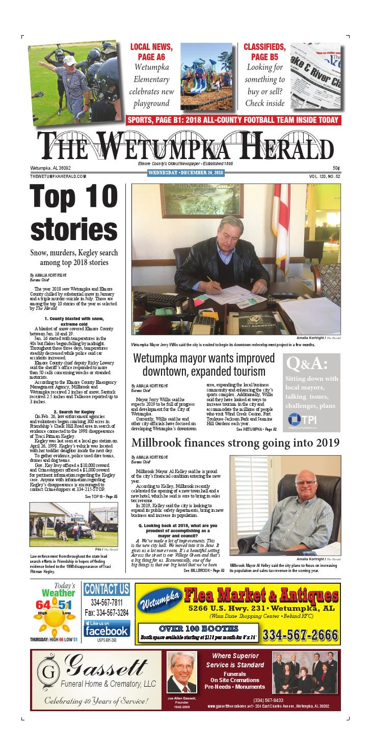 Dec  26, 2018 The Wetumpka Herald by Tallapoosa Publishers