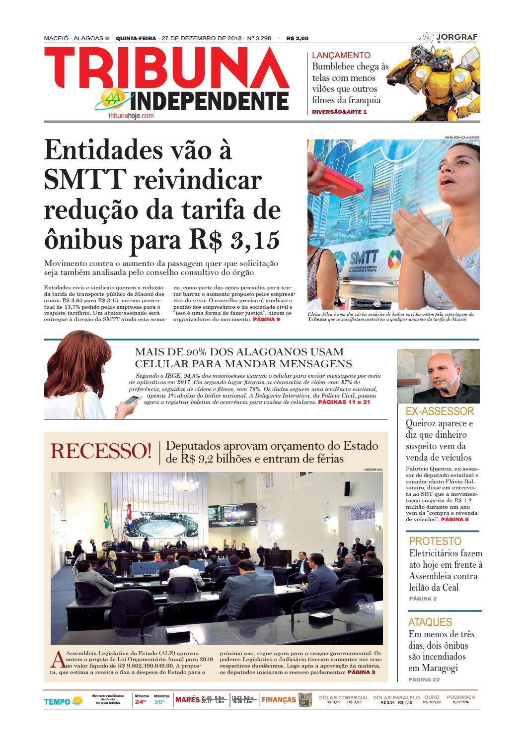 94975848d0c7e Edição número 3298 - 27 de dezembro de 2018 by Tribuna Hoje - issuu