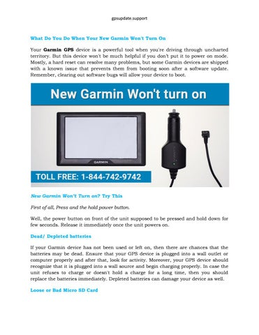 What Do You Do When Your New Garmin Won't Turn On by
