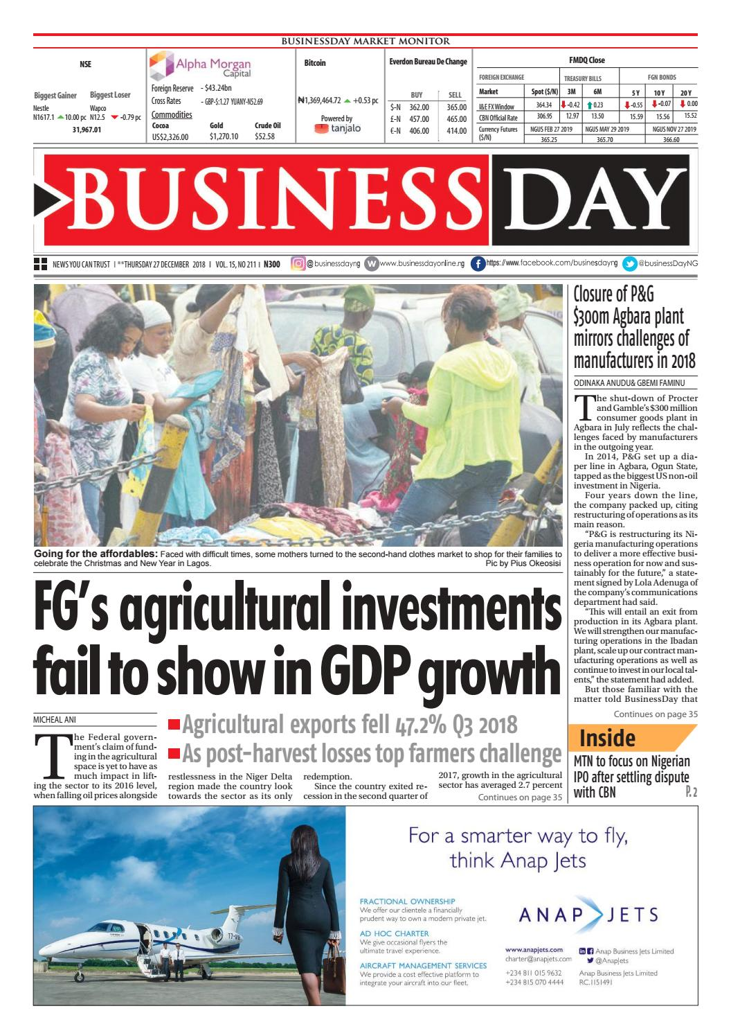 Businessday 27 dec 2018 by businessday issuu