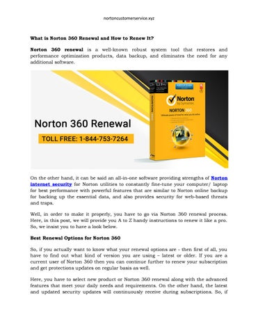 What is Norton 360 Renewal and How to Renew It? by charlieputh123