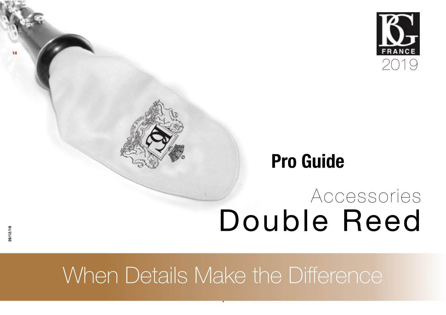 2019 DOUBLE REED  BG PRO GUIDE - English Edition by BG