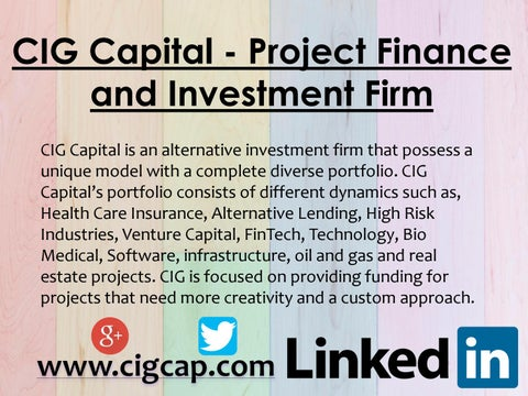 CIG Capital - Project Finance and Investment Firm