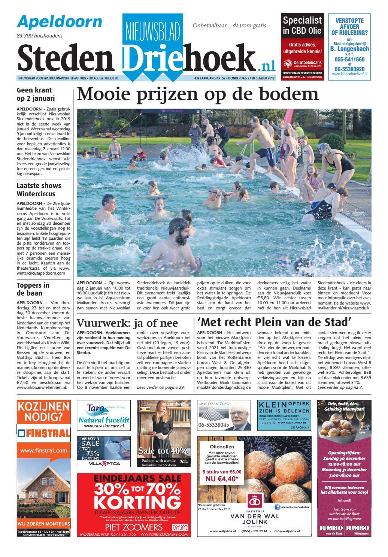 bbebec9b83c10f Nieuwsblad stedendriehoek Apeldoorn wk52 2018 by Uitgeverij Stedendriehoek  - issuu