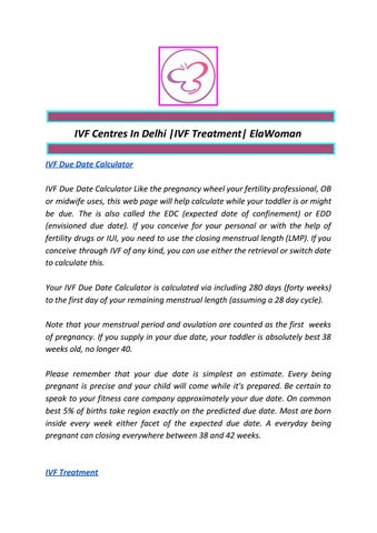 IVF Centres In Delhi |IVF Treatment| ElaWoman by anoop
