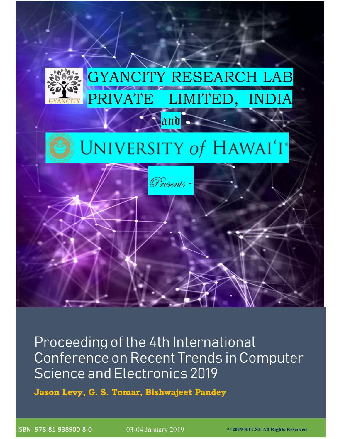 International Conference on Computer science | RTCSE 2019 by