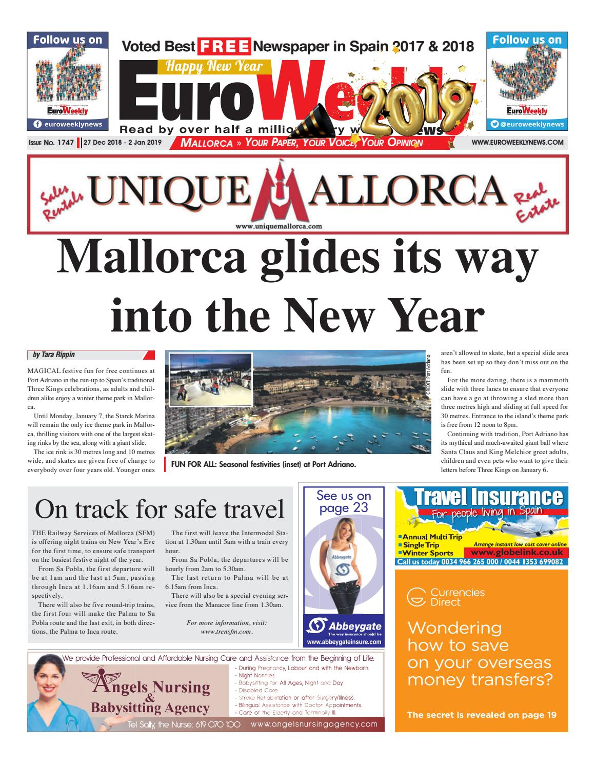 0863a76922 Euro Weekly News - Mallorca 27 December 2018 - 2 January 2019 1747 ...