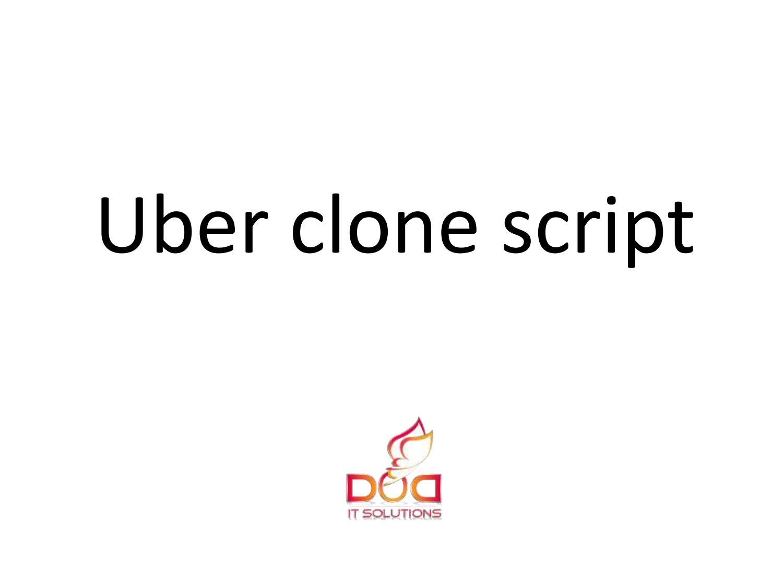 Uber clone script