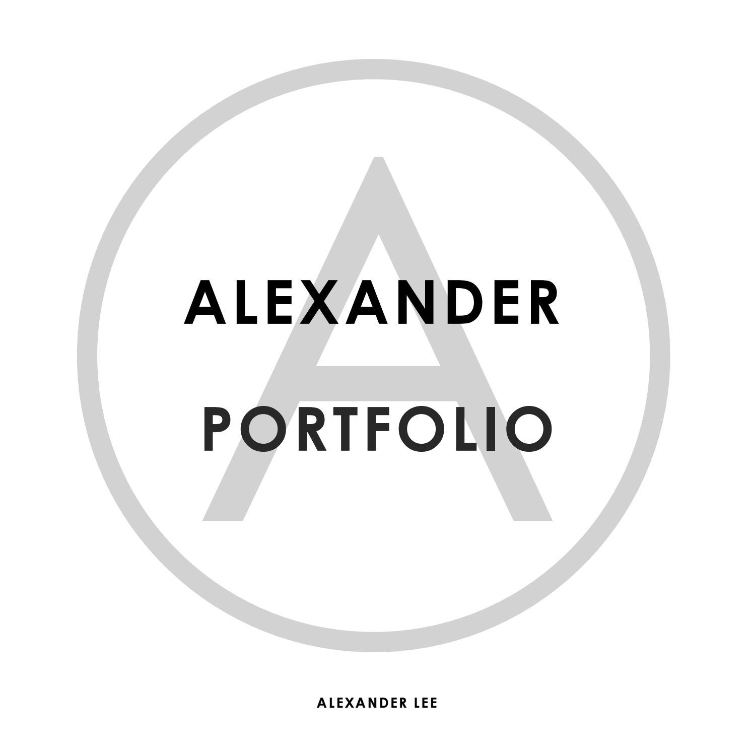 Alexander Lee Portfolio By Alexander Lee