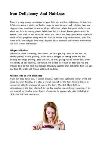 Iron Deficiency And HairLoss by helenrose xx - issuu