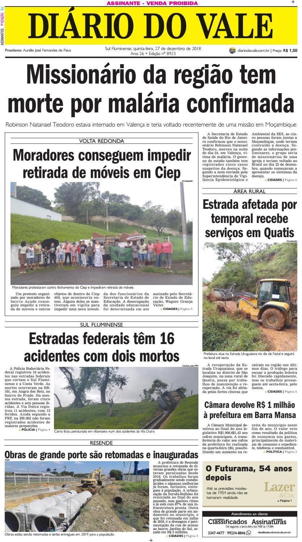 e4022f2d8 8923 - Diario - Quinta-feira - 27.12.2018 by Diário do Vale - issuu