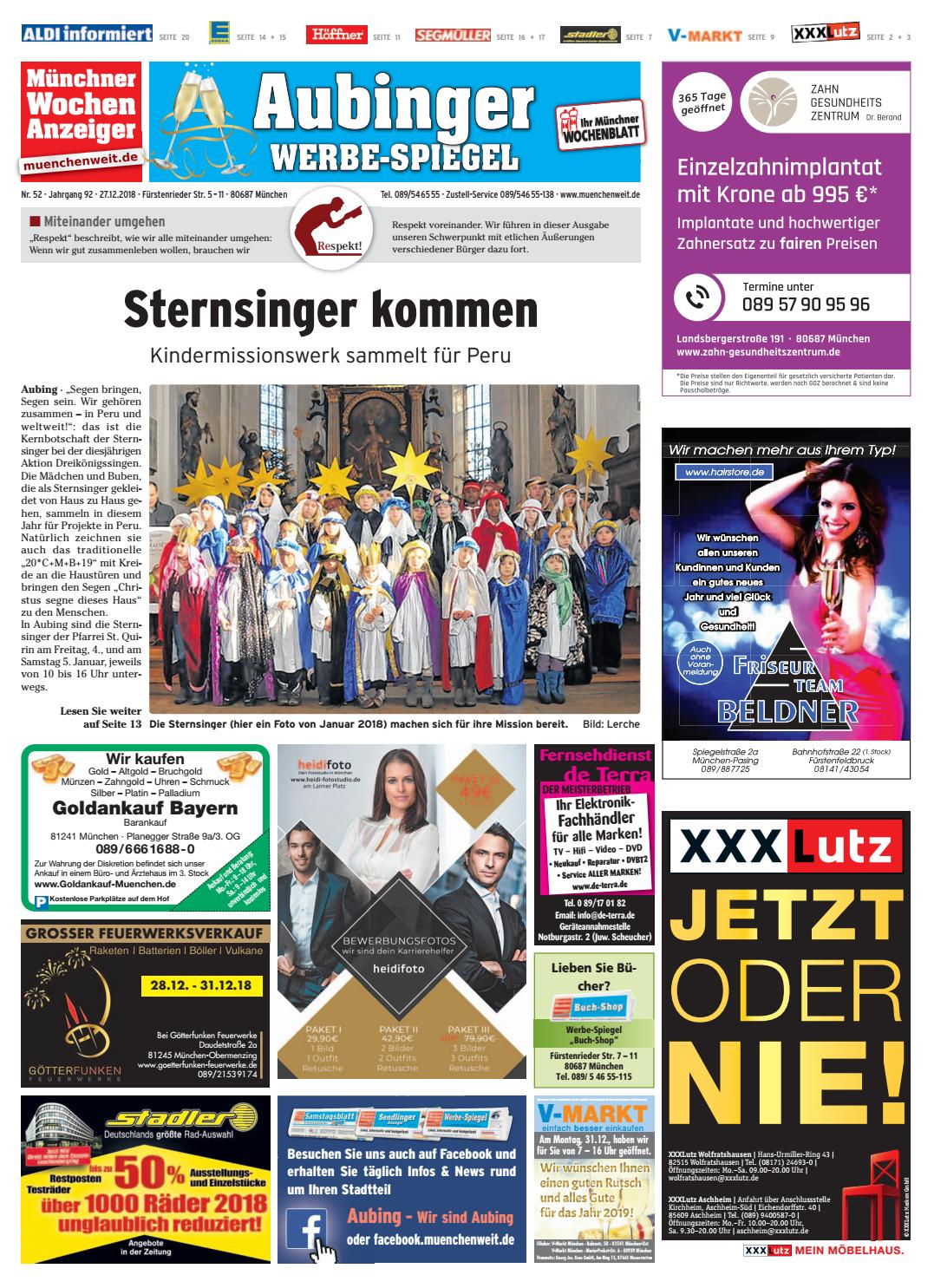 Kw 52 2018 By Wochenanzeiger Medien Gmbh Issuu