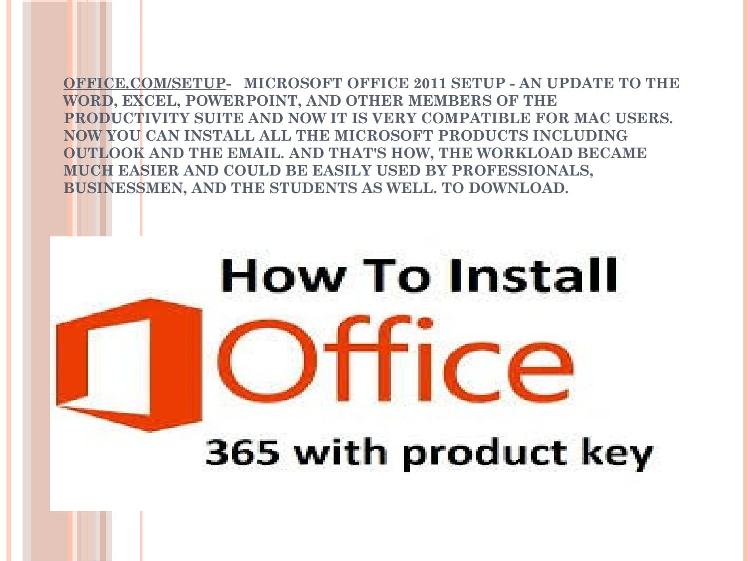 install microsoft office 2011 with product key