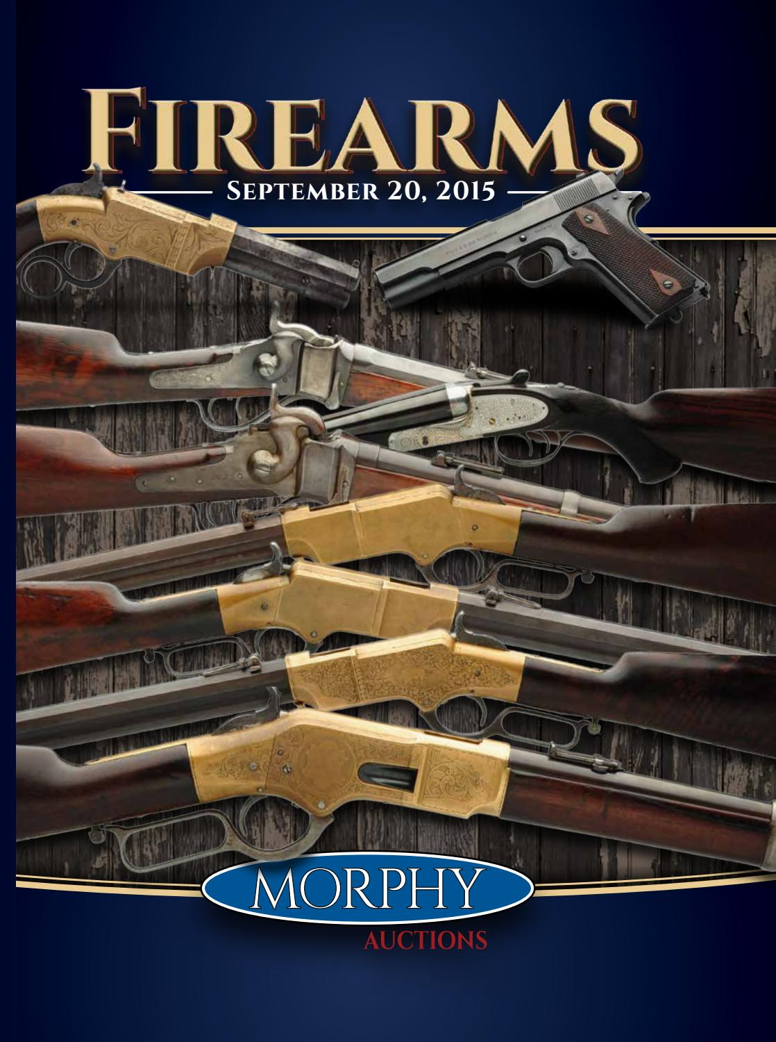 2015 September 20 Firearms by Morphy Auctions - issuu