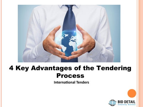 4 Key Advantages of the Tendering Process by Bid Detail - issuu