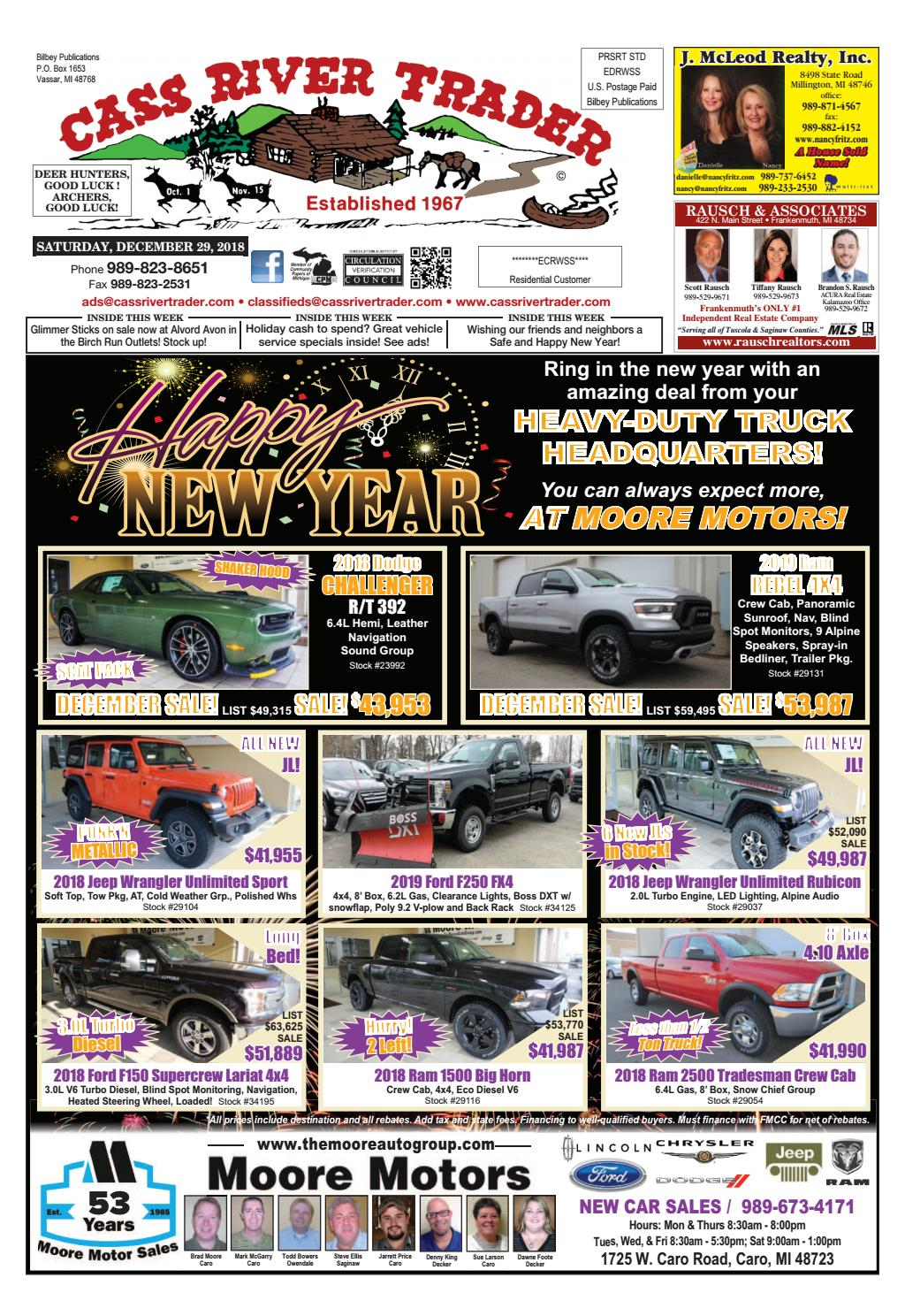 The Cass River Trader - December 29, 2018 by Cass River Trader - issuu
