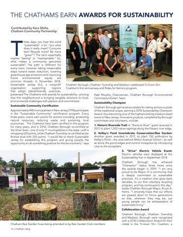Page 12 of The Chathams Earn Awards for Sustainability