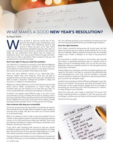 Page 16 of What Makes a Good New Year's Resolution