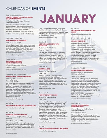 Page 8 of January Calendar of Events