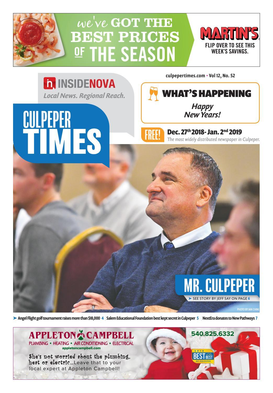 Culpeper Times - Dec  27, 2018 by InsideNoVa - issuu