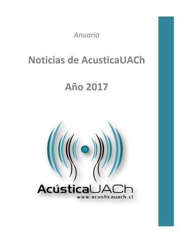 Anuario Noticias Acústicauach 2017 By Acusticauach Issuu