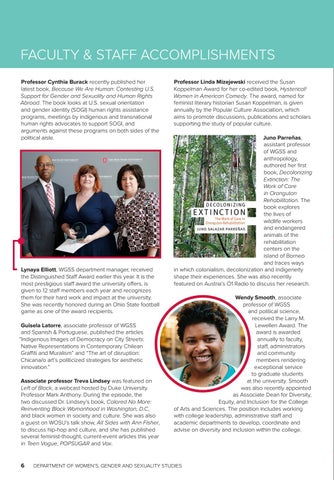 Page 6 of Faculty & Staff accomplishments