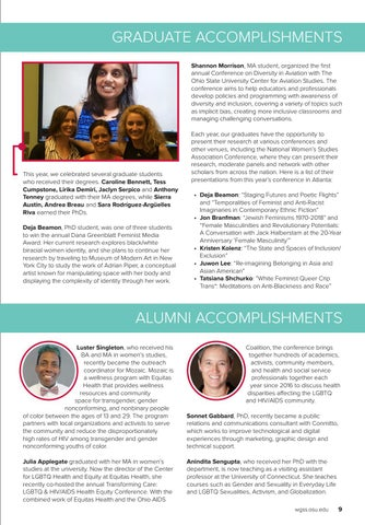 Page 9 of Student and Alumni accomplishments