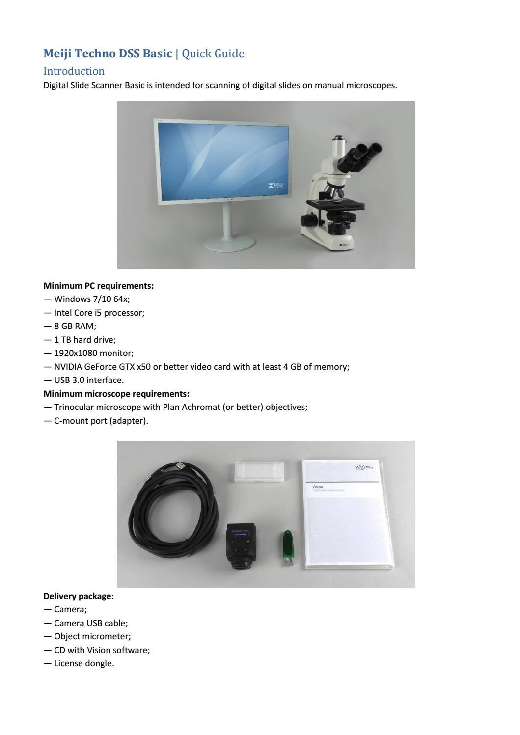 Meji Techno DSS Basic Start Guide by Meiji Techno America - issuu