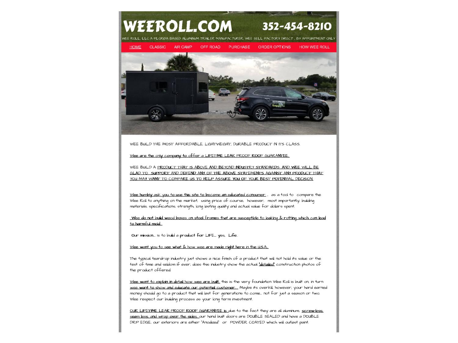 Small travel trailers for sale by weeroll usa - issuu