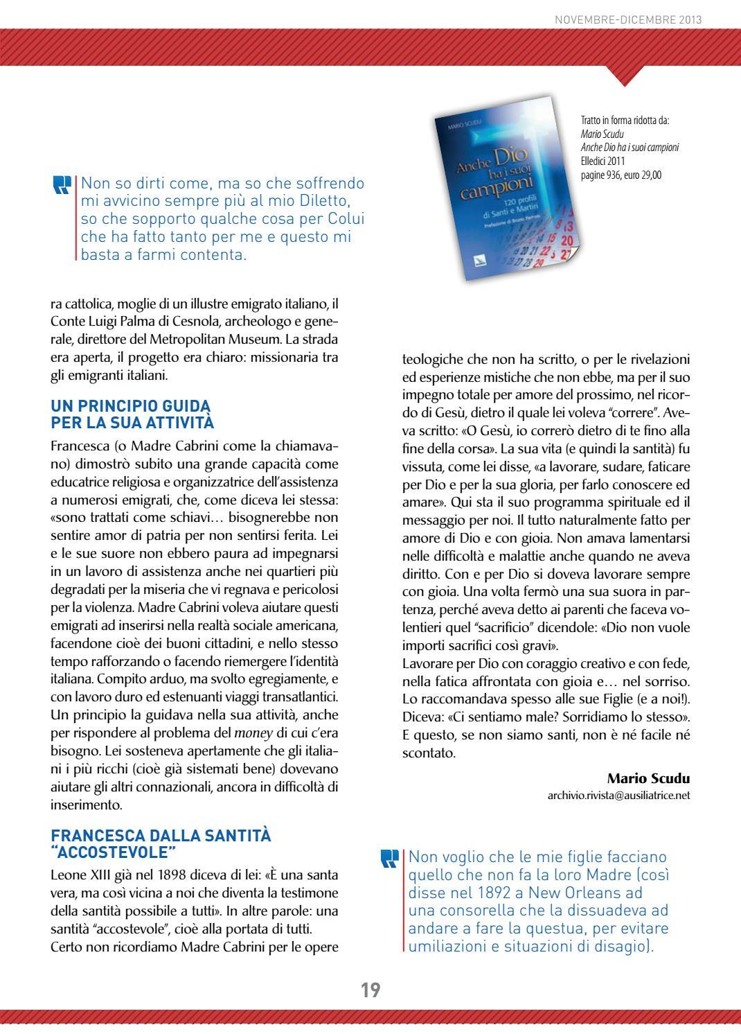 Un Certo Non So Che rivista maria ausiliatrice n.6/2013 by diffusione rivista