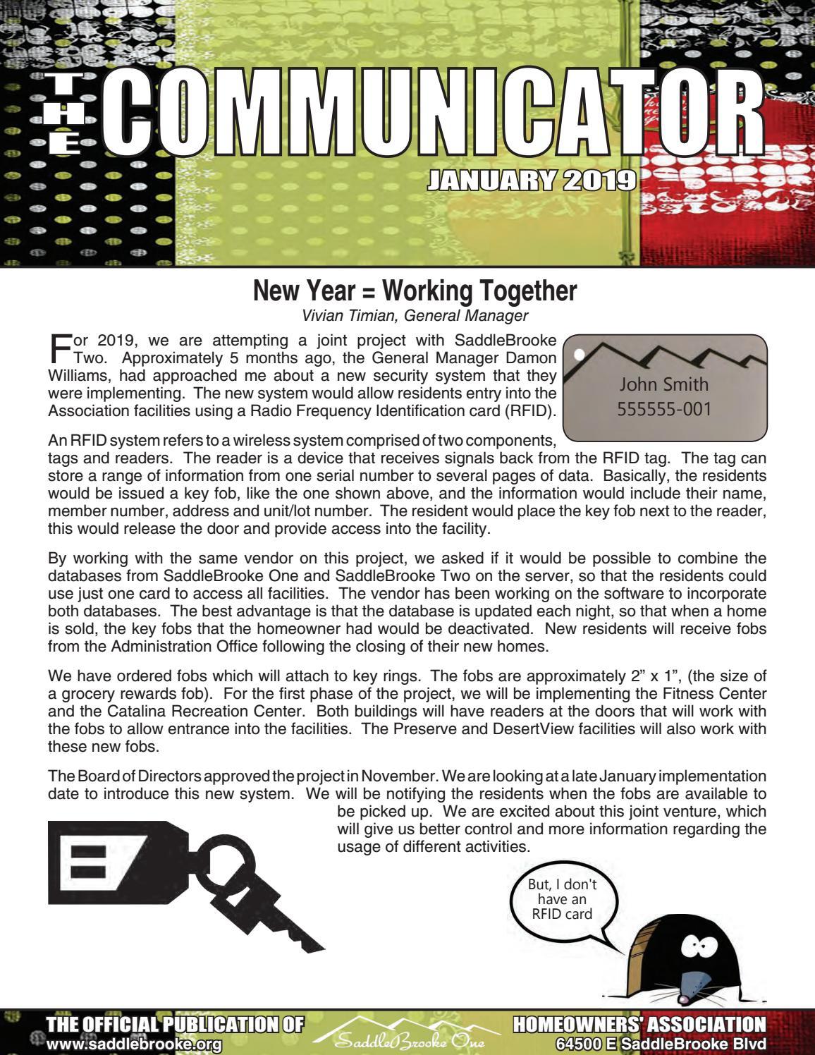 SaddleBrooke The Communicator January 2019 by SaddleBrooke