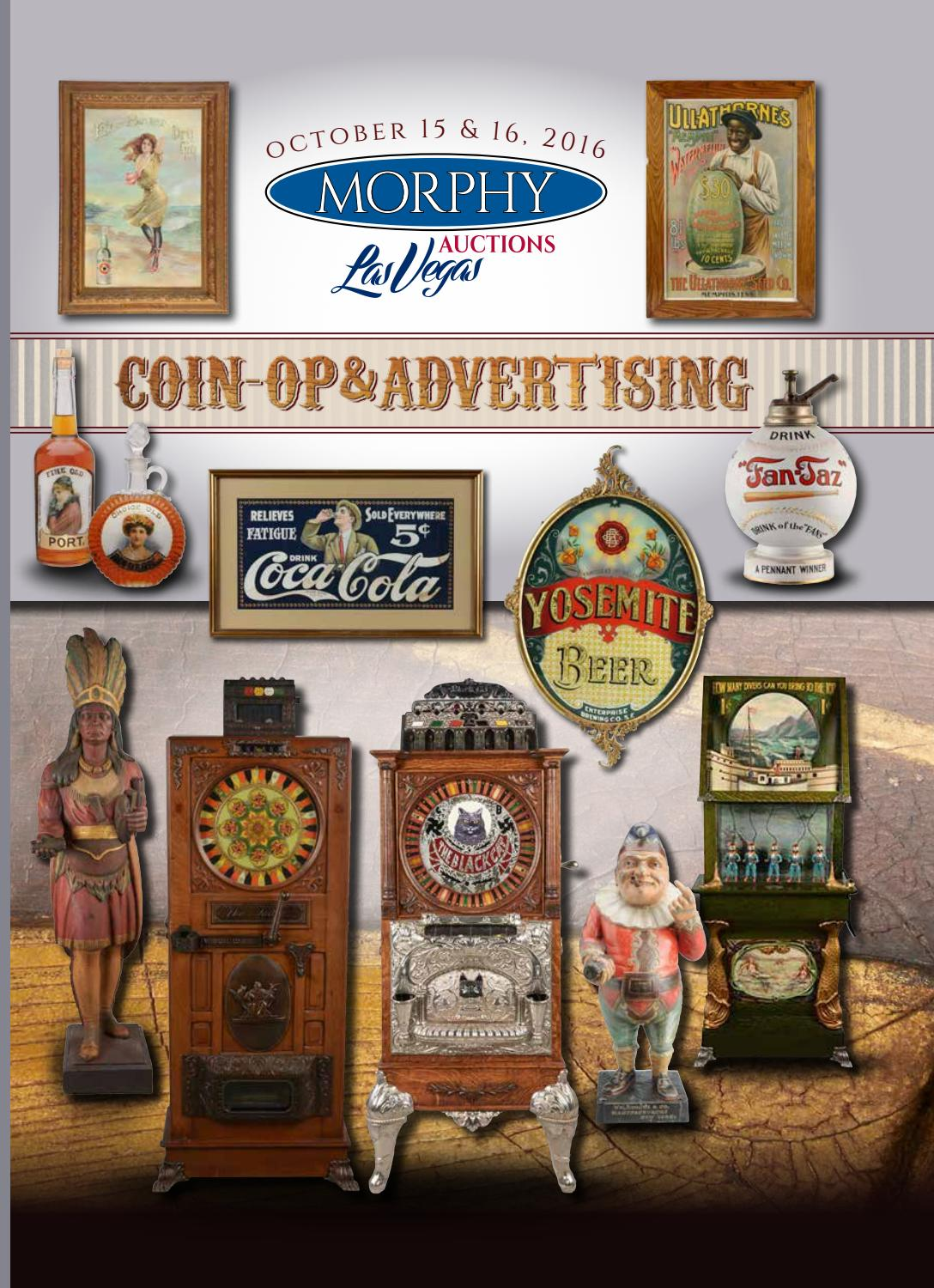2016 October 15-16 Coin-Op & Advertising by Morphy Auctions