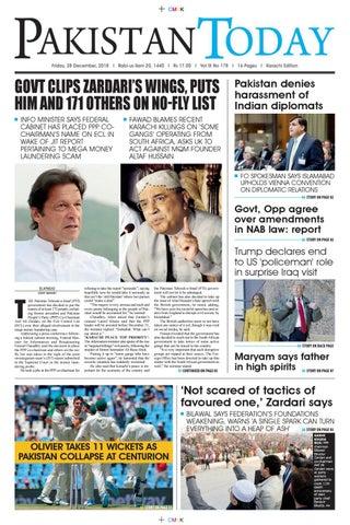d7bb267b06 E-Paper PDF 28 December 2018 (KHI) by Pakistan Today - issuu