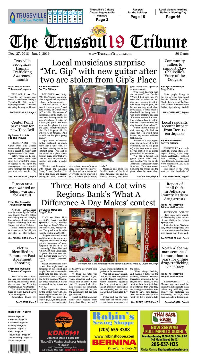 The Trussville Tribune - Dec  27, 2018 by Mike Kurov - issuu