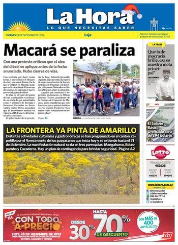 eaf2eba53 Diario La Hora Loja 28 de Diciembre 2018 by Diario La Hora Ecuador ...