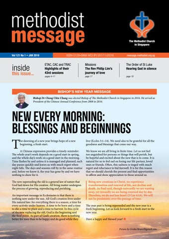 Methodist Message: January 2019 by Methodist Message - issuu