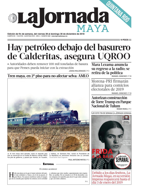 74c8448deecc4 La Jornada maya · viernes 30 de diciembre de 2018 by La Jornada Maya - issuu
